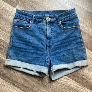 Monki high rise Jean Shorts
